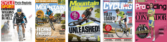 Cycling and Mountain Biking magazines of every type!