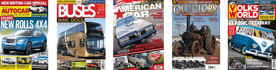 Motoring magazines of every type!